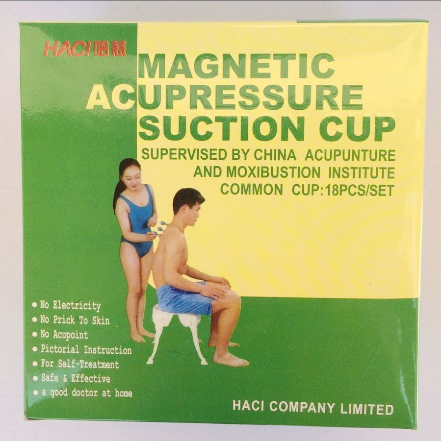18 Cups Silver HACI Magnetic Acupressure Suction Cupping Set