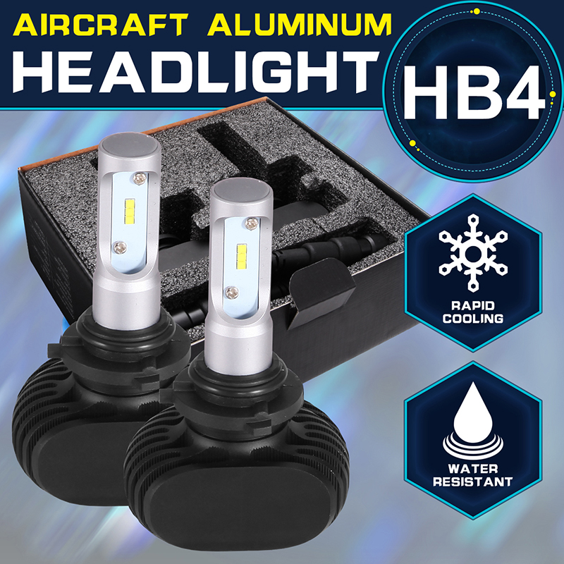 Oslamp HB4 9006 Led Front Car Bulbs SUV All-in-one Headlight Kits 2WD/4WD Automobile Head Lamps 50W 8000lm 6500K White CSP Chips