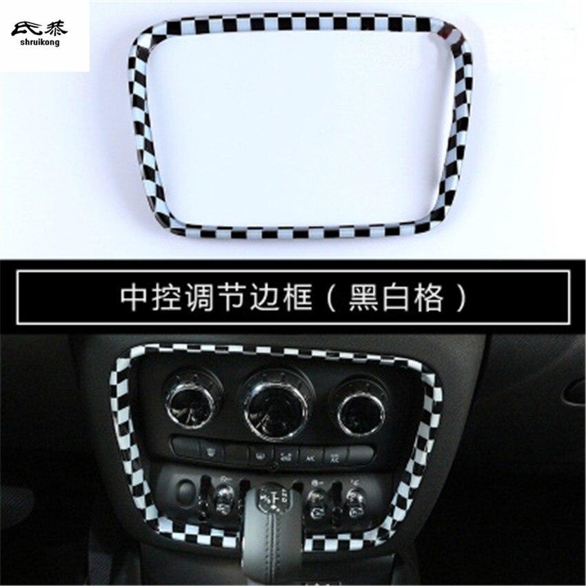 1 pc voiture accessoires PC matériel Multimédia panel switch bouton décoration couverture pour 2015-2018 mini clubman F54