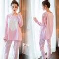 Mujer Pijamas Cartón Conjunto Pijamas de Las Mujeres para Las Mujeres Homewear Ropa Interior Señora Delgada Lindo pijamas Ropa de Dormir de Mujer para las mujeres