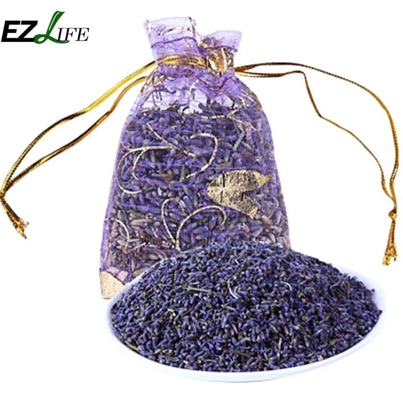 1 Pack Natural Lavender Bud Dry Flower Sachet Bag Wardrobe Car Room Air Refreshing Desiccant Home Fragrance Sachets Moth &Mildew