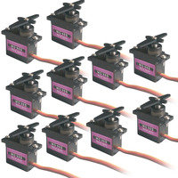 10pcs Metal Gear RC Micro Servo 9g For Align Trex T Rex 450 RC Helicopter