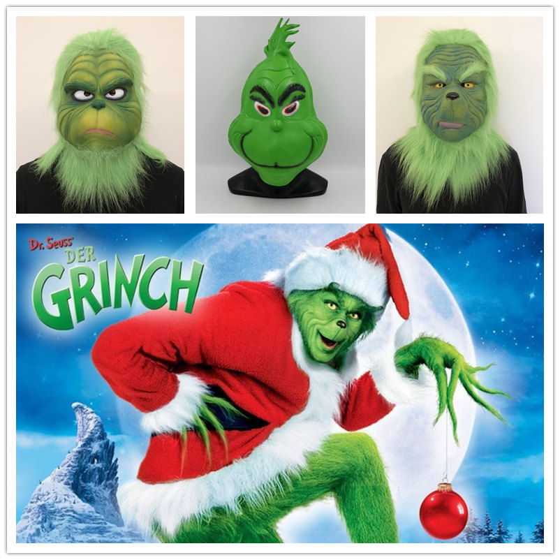 The Grinch Who Stole Christmas Movie.Us 17 06 30 Off Movie How The Grinch Stole Christmas The Grinch Mask Cosplay Costume Christmas Adult Latex Mask Fancy Party Prop In Boys Costume