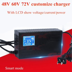 Lithium Lifepo4 LTO Battery Charger 48v 60v 64V 72v for EV scooter Ebike Automatic Power Off LCD Screen 10Ah 20Ah 30Ah Charger(China)