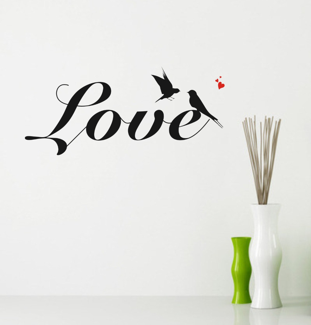 wall quotes Swallow Love Wall Decals Free Shipping /PVC Removable Art Home  Wall Stickers/Room Wall Decor Quote