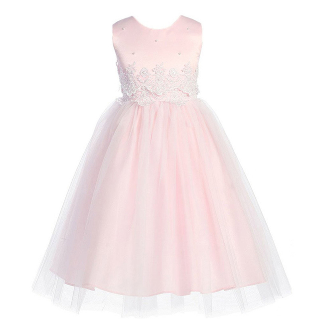 d0bb16bd347 Hot Sale 2 - 12 Years Cute Girls ClothesWhite Dress Lace Flower Dress Girls  Princess Costume