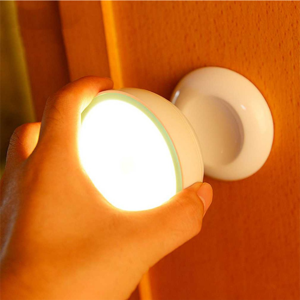 360 องศาหมุนอัจฉริยะ LED ไฟกลางคืนร่างกายมนุษย์เซนเซอร์โคมไฟแม่เหล็กดูดซับทางเดินตู้เสื้อผ้าโคมไฟติดผนัง