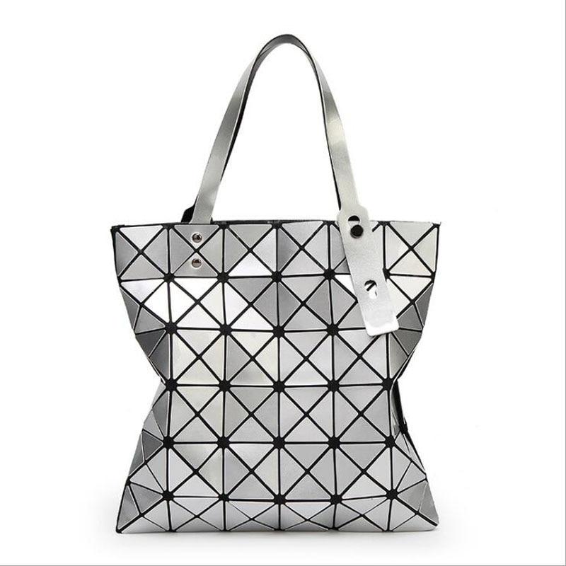Folding Laser Geometric Lady Handbag Bao Bao Bags Brand Shoulder Bag Women Tote Bags Bolso Free