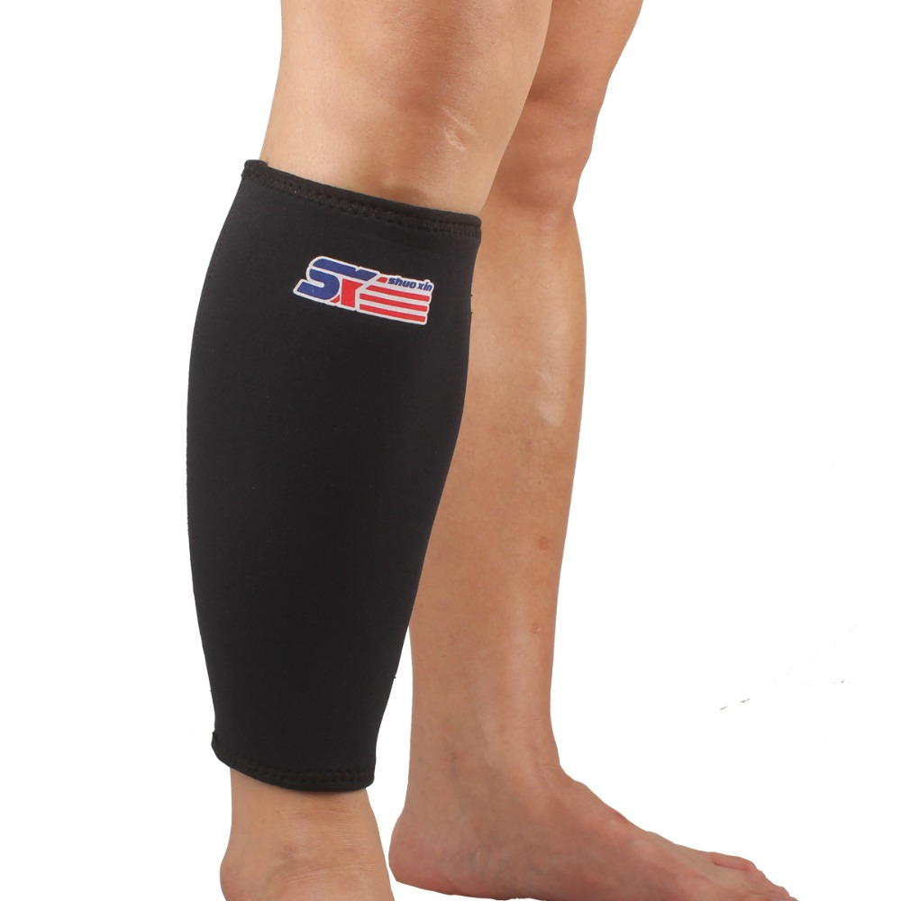 03151688f3 Detail Feedback Questions about Calf Support Leg Knee Protector Breathable  Neoprene Brace Wrap Shin Running Sport Bandage Leg Sleeve Compression Black  ...
