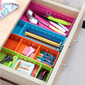 5 Colors Adjustable New Drawer Organizer Home Kitchen Board Divider Makeup Storage Box Pencil Jewelry Organizer