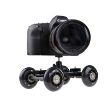 Black Portable Desktop Camera Dolly car Tabletop Video Slider Rail Track with Mini Ball Head for Video blog Filmmaking