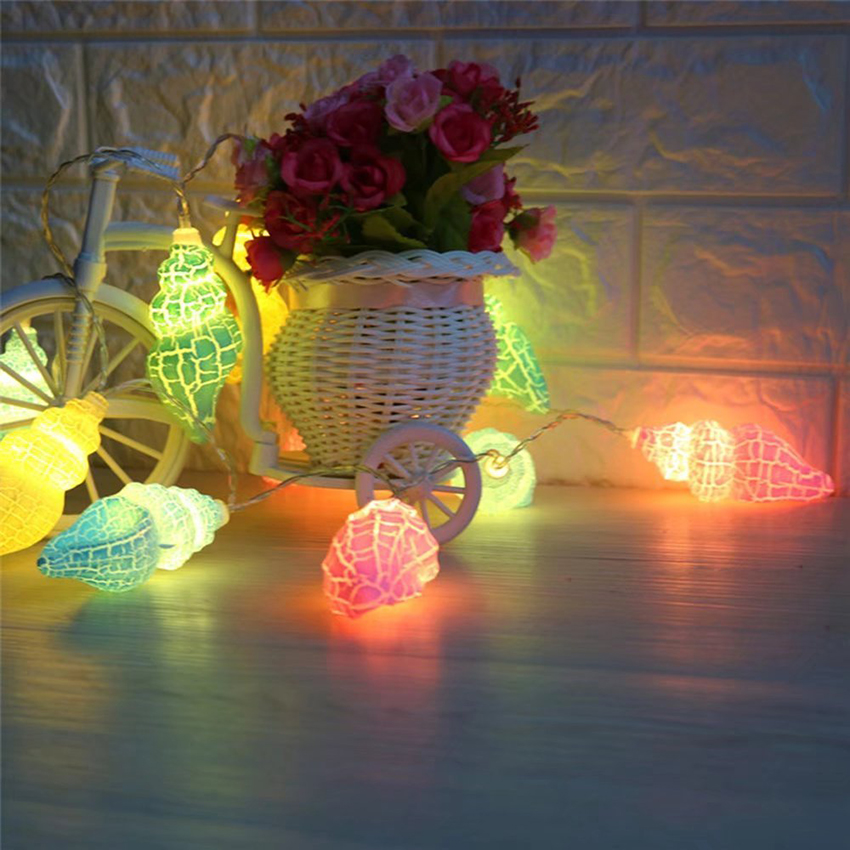 1,5m 10leds 3m 20leds Conch LED String Light Holiday Jul - Festlig belysning