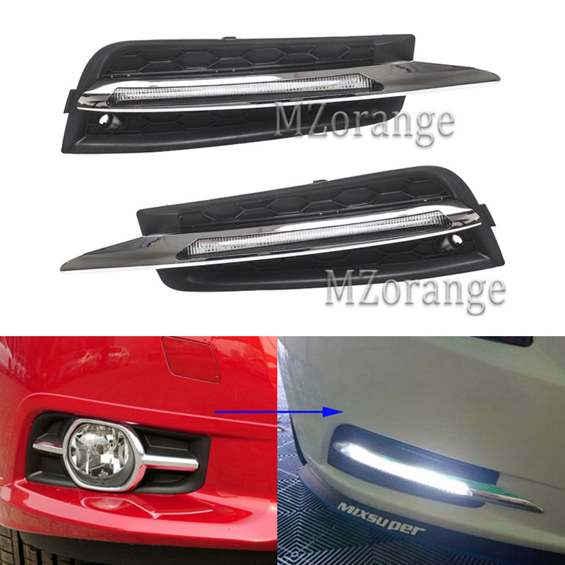 2Pcs Set LED Daytime Running Light 9 LED DRL For Chevrolet Cruze 2009 2010 2012 2013