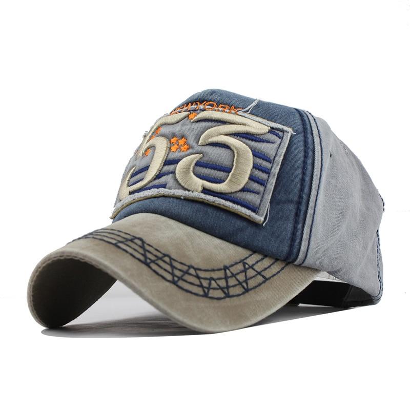 [FLB] Yeni Pamuk Beyzbol Şapkası Koşu Monte Mektubu Spnapback Yaz - Elbise aksesuarları - Fotoğraf 2