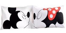 Mickey mouse Amor Almohada Decorativa Caso Lindo Diseño de Algodón Estándar de Almohada de Regalo a Casa 50 cm x 75 cm