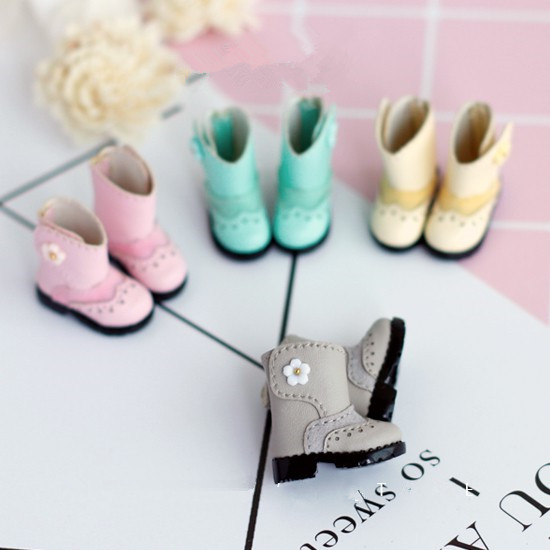 Flowers boots Blyth doll shoes suitable for Blyth Licca AZONE Momoko Lati JerryB doll shoes accessories for dolls все цены