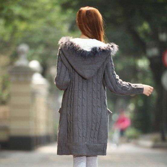 Slim Cardigans Warm Korean Style Crocheted Twisted Pattern Sweater