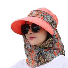 Женские летние шляпы Солнцезащитная шляпа козырек складной Анти-УФ открытый пляжный спортивный головной убор B2Cshop