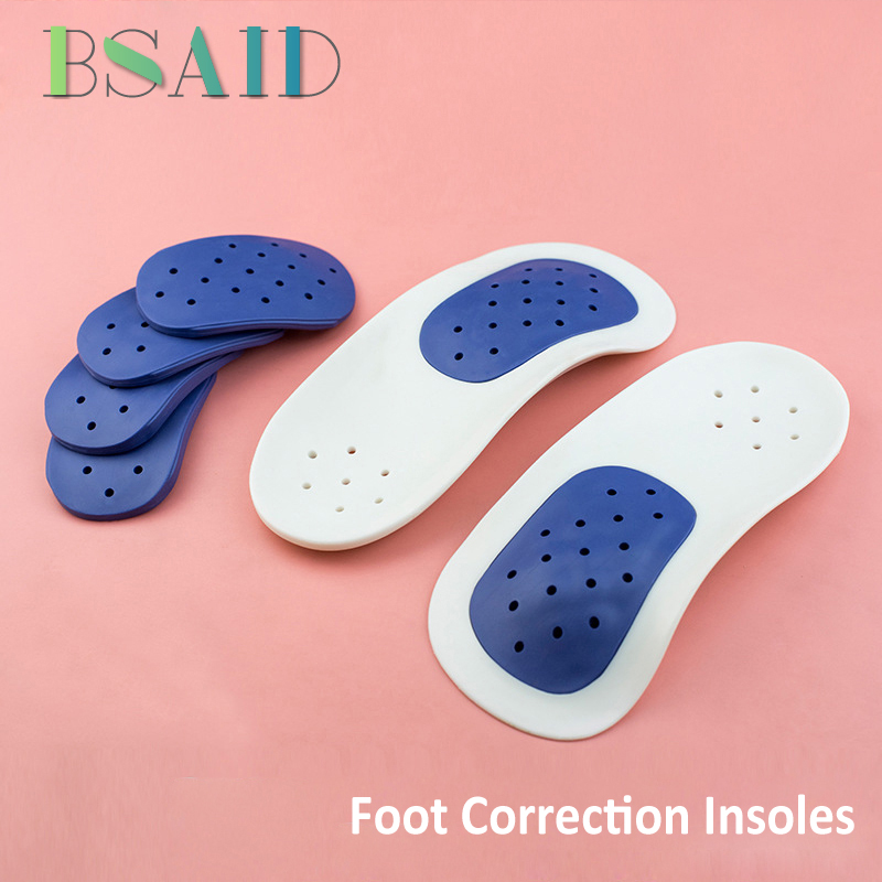 BSAID Removable 'O'/'X' Leg Flat Foot Orthopedic Insoles For Kids Women Shoes Sneakers Correction Shoe Insoles Foot Pads Inserts o x leg correction half insoles inner outer eight foot orthopedic correction silicone heel pad for men women 5 pairs lot vc3550