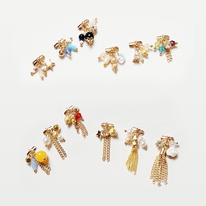 10pcs latest Luxury GOLD 3d fashion alloy nail art Pendant decoration metal Tassel chain gel polish accessories nail art jewelry|nail art jewelry|3d alloy nail artalloy nail art - AliExpress