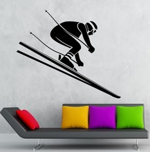 New arrival  Skiing Sticker Winter Sports Decal Posters Vinyl Wall Decals home Decor Mural