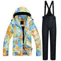 2017 NEW Winter Men Ski Suit Super Warm Clothing Skiing Snowboarding Jacket Pants Suit Windproof Waterproof