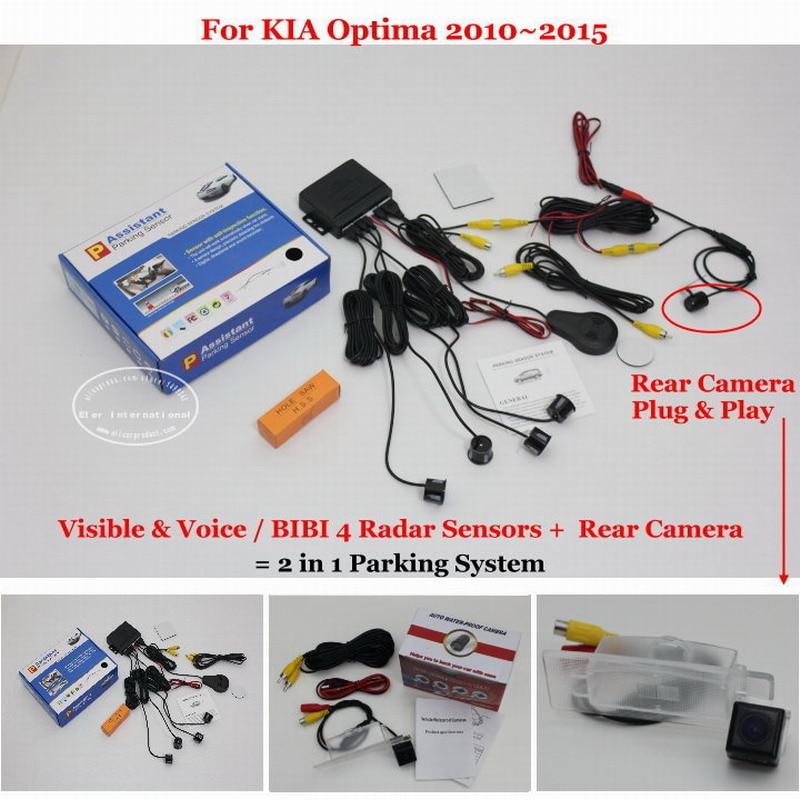 ФОТО BIBI Alarm Parking System - Car Parking Sensors + Rear View Camera = 2 in 1 Visual / For KIA Optima 2010~2015