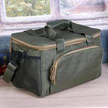 Army Green Fishing Bag Canvas Multifunctional Outdoor Waist Shoulder Bags Fishing Reel Lure Storage Bag Fishing Tackle Pesca New