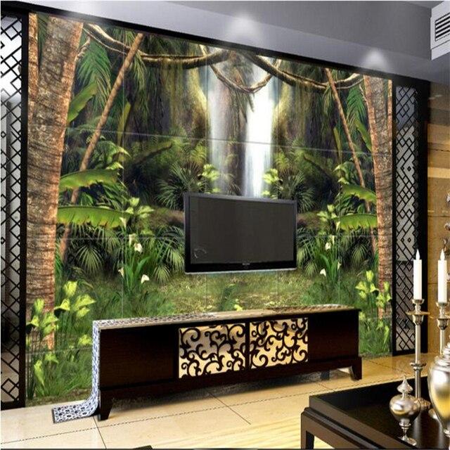 US $9.3 38% OFF Beibehang Große eigene tapeten fantastische reines wald TV  hintergrund wohnzimmer schlafzimmer wasserdichte tapete für badezimmer in  ...