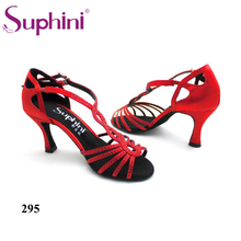 Free Shipping Crystal T STRAP High Heel Dance Shoes Women s Salsa Latin Dance Shoes