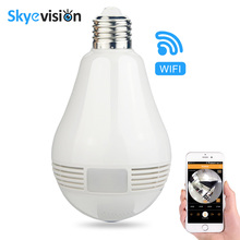 Skyevision 960P Bulb Light Wireless IP Camera Wifi Home Security Panoramic FishEye 360 degree Full View