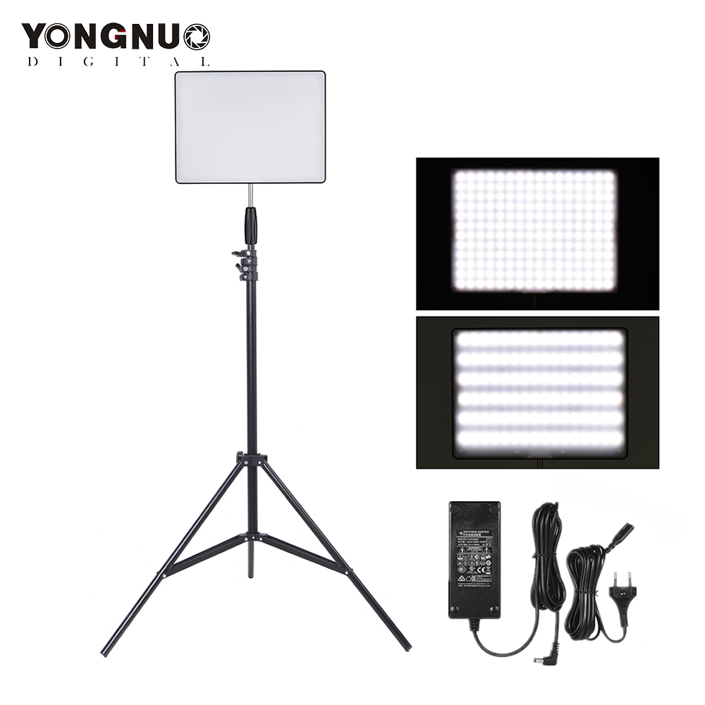 YONGNUO YN600 Air Photo Studio LED Light Adjustable Brightness 3200K-5500K Photography Lighting with Light Stand Power AdapterYONGNUO YN600 Air Photo Studio LED Light Adjustable Brightness 3200K-5500K Photography Lighting with Light Stand Power Adapter