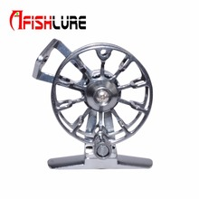 Super Light All Metal Ice Fishing Reel Fly Fishing Wheel Aluminum Alloy Machine Cut Former Fly reel 0.3mm/150m Fishing Gear