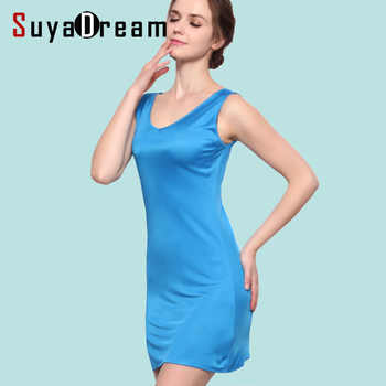 100%REAL SILK  women sleep dress solid basic slip dress V neck FULL slips sleeveless new underwear WHITE BLACK NUDE - DISCOUNT ITEM  20% OFF All Category