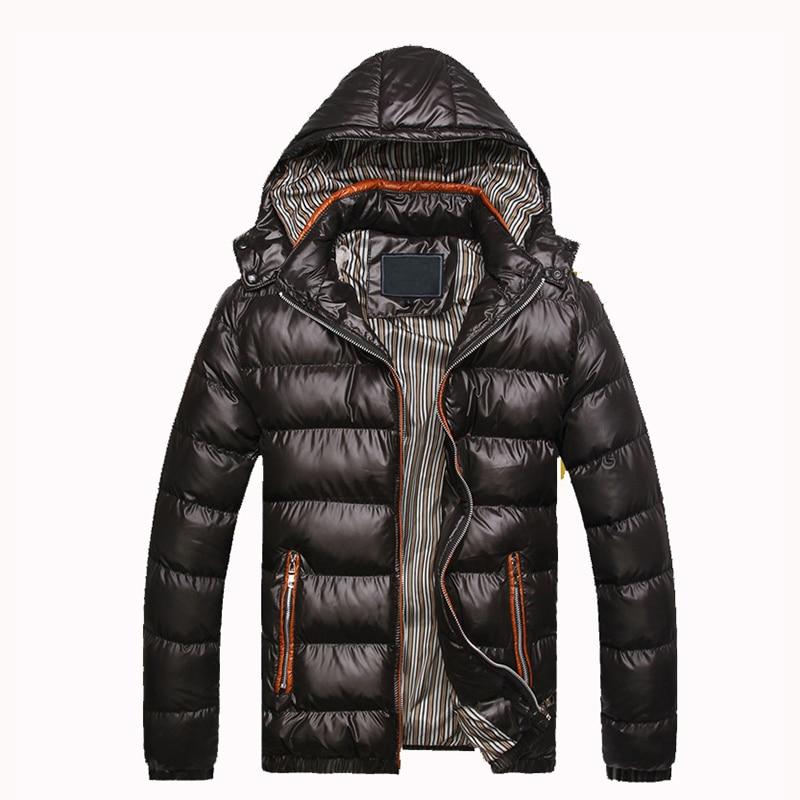 Men Hoody Winter Coats Male Hooded Plus Size XXXL Jackets Teenager Slim Fit Windbreaker Outwear Warm Cotton Parka