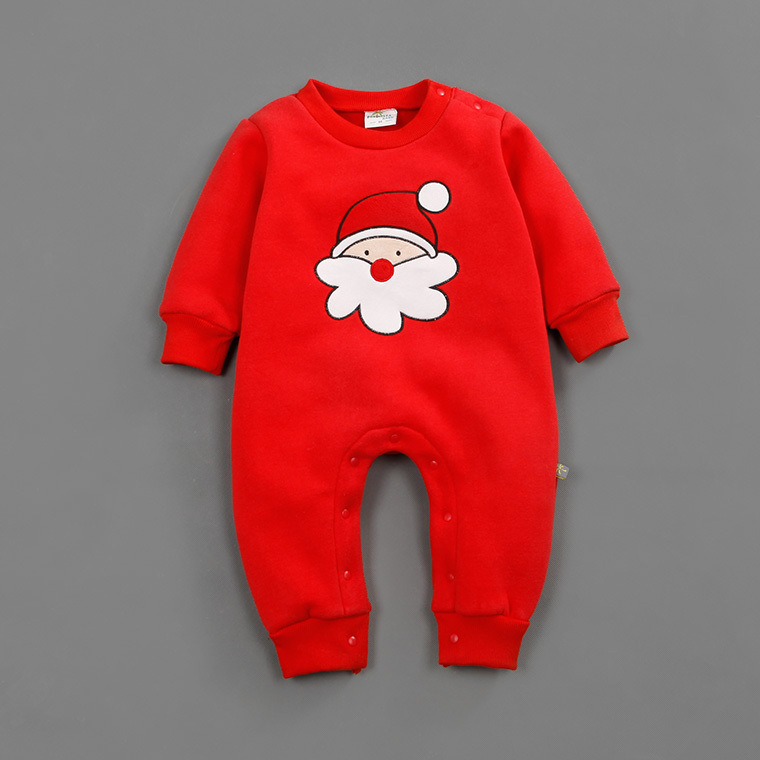 2017 New Baby Girls Boys Christmas Clothes Newborn Infant Bebes Santa Claus Romper Kids Patchwork Costume Fleece Clothing 0-12M christmas gift 2016 hot baby jumpsuit santa claus clothes kids overalls newborn boys girls romper children costume
