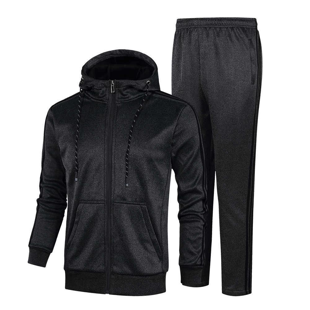 YIHUAHOO спортивный костюм мужской зимне-осенний комплект одежды 2 шт куртка и брюки двухсекционные спортивные штаны спортивный костюм KSV-TZ060