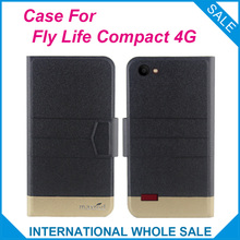 Original! Fly Life Compact 4G Case 5 Colors High Quality Flip Ultra-thin Luxury Leather Protective For