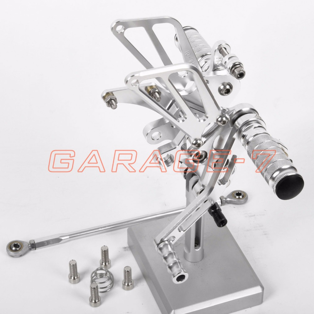 CNC Motorcycle Parts Rearsets Foot Pegs Rear Set For Benelli BN600 2013 Silver Color