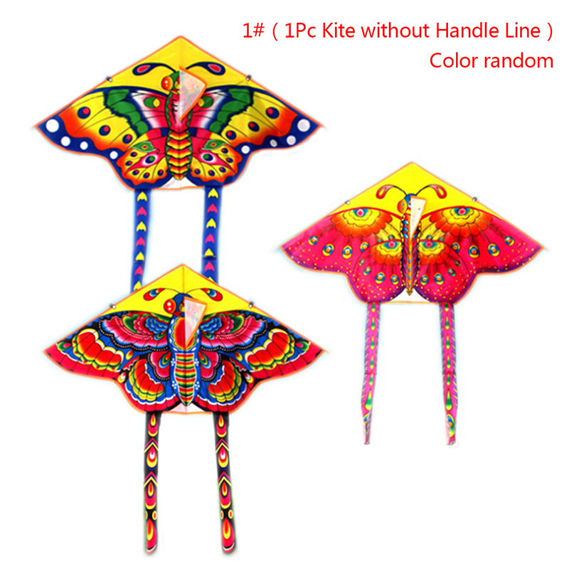 1Pc Outdoor Sports Butterfly Flying Kite With Winder Board String Children Kids Toy Game