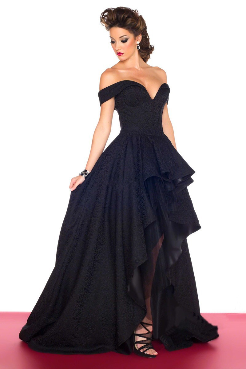 Popular Prom Dress Front Short Long Back Black-Buy Cheap Prom ...