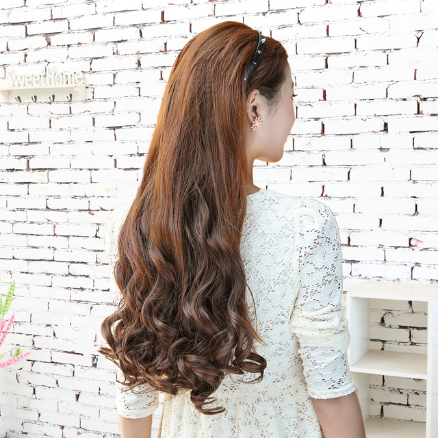 High-grade thick big wave micro volume long hair women s hair extensions  curly tablets tablets 8387d3366