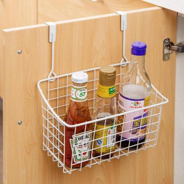Metal Kitchen Sink Sort Out Storage Basket Towel Organizer Seasoning Bottle Hanging Accessories