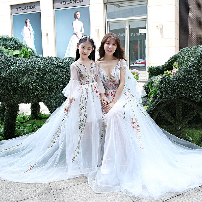 Online Get Cheap Mother Daughter Wedding Gowns Matching