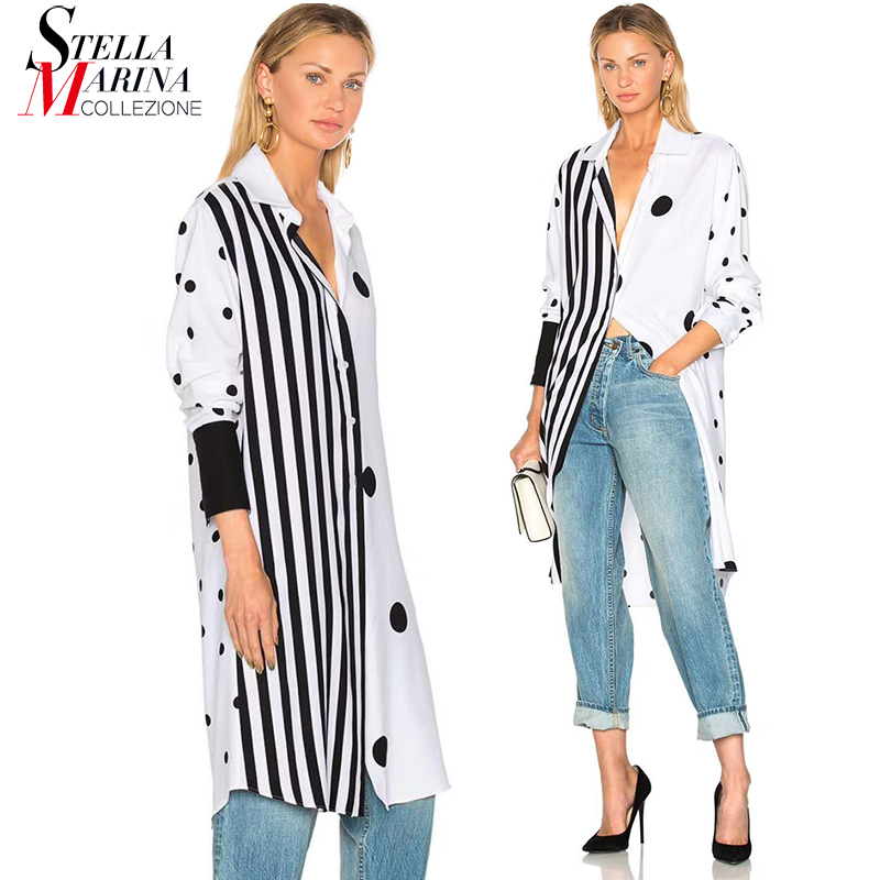 Buy new 2018 european fashion women polka for Buy white dress shirt