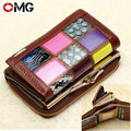 2015 Plaid National Change Purse Short Cowhide Patchwork Coin Purses Genuine Leather Zero Wallet Small Money Credit Card Holders