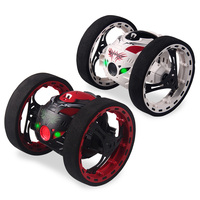 2 4G RC Bounce Car With Jumping LED Light Music Automatic Balancing Upright Walking Remote Control