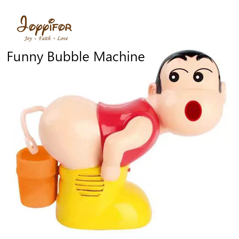 Joyyifor Cartoon Funny Bubble Machine Toys Fully Automatic Water Blowing Kid Toy Bubble Soap Blower Outdoor Children Brinquedos