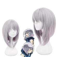 Knights Magic Cosplay Wig Echevarria Ernesti Silver Short Straight Mixed Colors