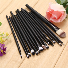 15Pcs Nature Goat Hair Synthetic Fiber Makeup Brushes Professional Eyeshadow Brush Mascara Lip Foundation Brush Cosmetic Tools